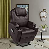 U-MAX Recliner Power Lift Chair Wall Hugger PU Leather with...