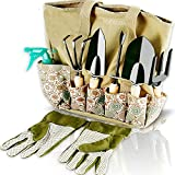 Scuddles Garden Tools Set - 8 Piece Heavy Duty Gardening Kit...