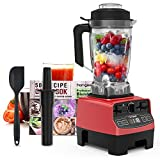 Homgeek Professional Blender, Countertop Blender 1450W, High...