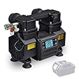 Tichop Portable Cordless Air Compressor with DC Power,Small...