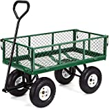Gorilla Carts GOR400-COM Steel Garden Cart with Removable...