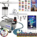Master Airbrush Cool Runner II Dual Fan Air Compressor...