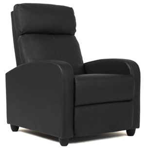 Fdw wingback leather recliner chair