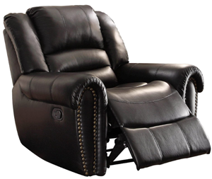 Homeglance center hill leather recliner