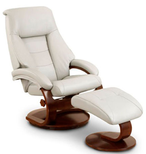 Mac motion top grain leather recliner chair