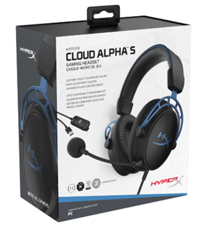 cloud alpha s gaming headset box
