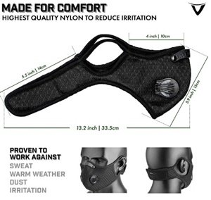 reusable dust mask with activated carbon n99 filters